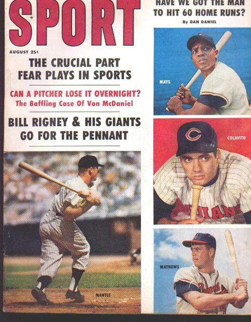 Sport Mag'59 w/Mantle,Mays,Colavito,Mathews