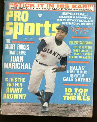 Pro Sports Mag Nov 1966 Jaun Marichal cover