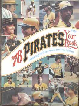 Pirates yearbook 1978 all time Roster