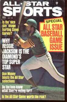 Reggie Jackson cover July 1975 All Star