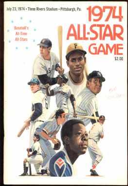 All Star Game 1974 souvenir booklet Photos