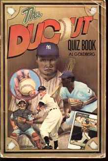 Dugout Quiz Book by Al Goldberg 1975