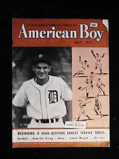 Barney McCosky Detroit May 1941 mag cover