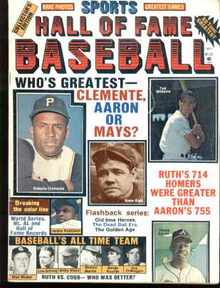 Hall of Fame Baseball 1977 Clemente Aaron May