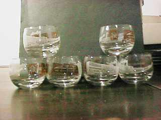 Pennsylvania RR Great Cocktail Glasses c 1956