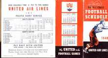 United Airlines Pacific Coast Football 1940