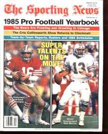 Pro Football yearbook 1985 J Montana D Marino
