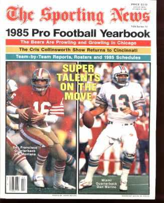 Pro Football yearbook 1985 J Montana D Marino