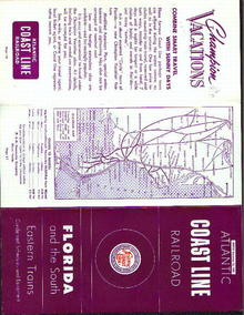 Atlantic Coastline RR, 1961 schedules