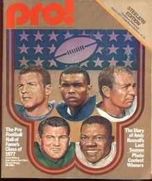 Pro! NFL Mag 1977 Hall of Famers Cover