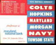 Maryland Universitys 1974 Football Schedule