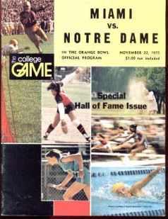 Miami vs Notre Dame Orange Bowl 1975