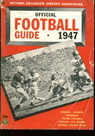 NCAA Official Football Guide 1947 photos