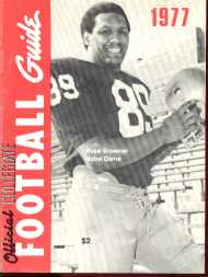 Collegiate Football Guide 1977 Ross Browner