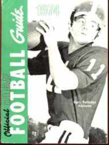 Collegiate Football Guide 1974 Gary Rutledge