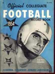 Collegiate Football Mag 1954 Dick Carr