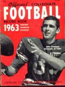 Collegiate Football mag 1963 John Simmons