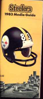 Steelers 1983 Media Guide Great info & Photos