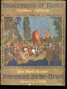 Tournament of Roses 1928 Beautiful magazine