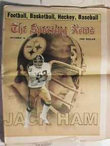 Jack Ham cover sporting news dec 1977