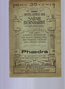 Sarah Bernardt, plays, 1905-06 season