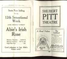 Abie's Irish Rose 1923 program great ads