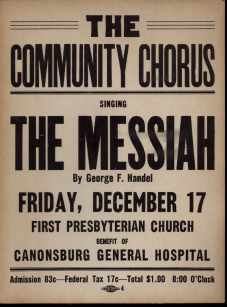 Handels Messiah poster 1940 Community Chorus