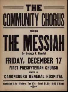 Handels Messiah poster 1940 Community Chorus