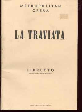 La Traviata Libretto 1957 Metropolitan Opera
