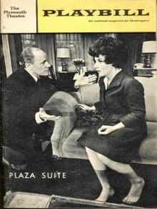 Playbill Plaza Suite 1968 EG Marshall &