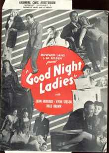 Good Night Ladies 1944 Program John Hubbard