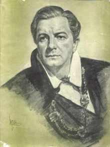 Maurice Evans as Hamlet program late 1940s