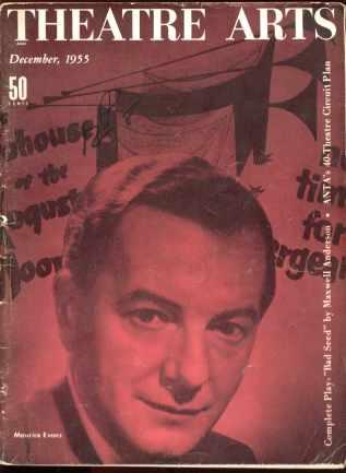 Theatre Arts Dec 1955 Maurice Evans cover