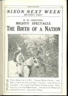 Birth of a Nation D W Griffith 1915 Program