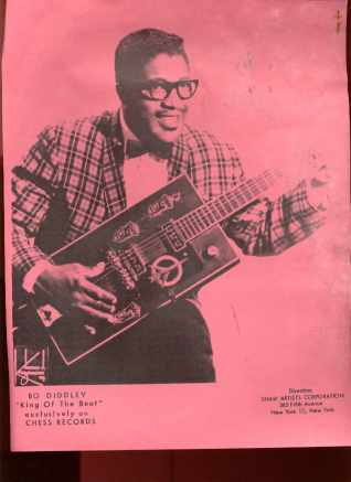 Bo Diddley Poster Aspen Mag 1966 RARE