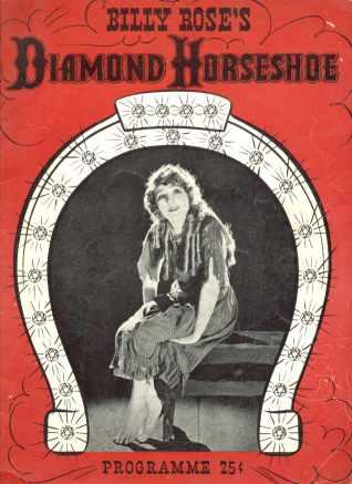 Billy Roses Diamond Horseshoe 1941 program
