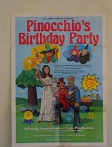 PINOCCHIO'S BIRTHDAY PARTY POSTER
