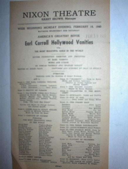 EARL CARROLL HOLLYWOOD VANITIES FEB 19 1940