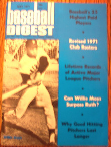 MAY ,1971 BASEBALL DIGEST WILLIE MAYS
