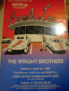 THE WRIGHT BROTHERS13 x 20 CONCERT POSTER
