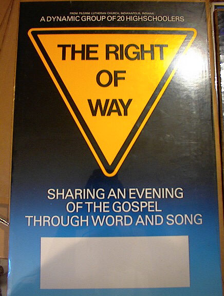 THE RIGHT OF WAY !3 x 20 CONCERT POSTER