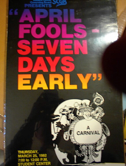 APRIL FOOLS SEVEN DAYS EARLY POSTER