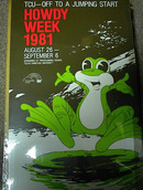REALLY COOL  HOWDY WEEK FROG POSTER1981