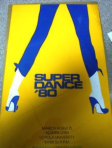 SUPER DANCE'80 13 X 20 POSTER