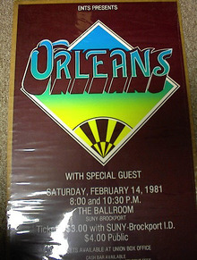 ORLEANS 1981 20X13 CONCERT POSTER
