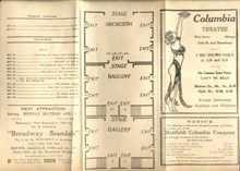 Great Art Deco Illustn Columbia Theatre 1928