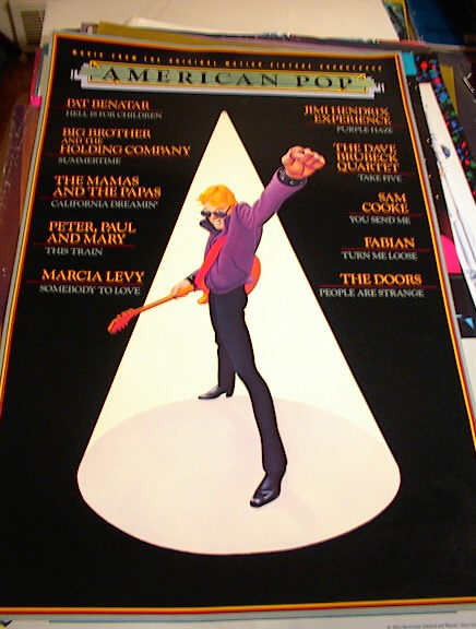 AMERICAN POP SOUNDTRACK POSTER