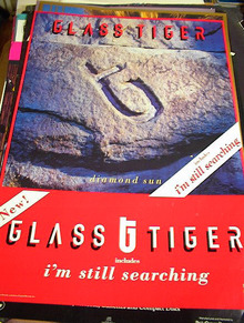 GLASS TIGER DIAMOND SUN ALBUM POSTER