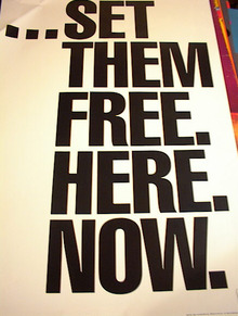 ...SET THEM FREE.HERE.NOW.POSTER
