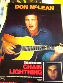 DON MACLEAN ALBUM CHAIN LIGHTNING POSTER